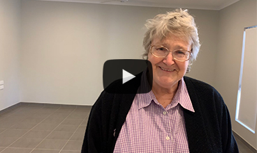 Senior social housing tenant Suzanne